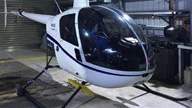 陳姓地主將R22直升機藏在桃園龜山鐵皮屋內(圖/翻攝畫面)