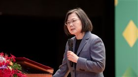 蔡英文出席「2020臺灣全球健康論壇」。(圖/總統府提供)