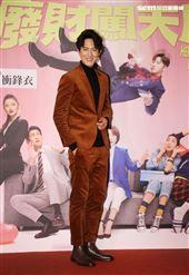 邱昊奇出席華劇 「廢財闖天關」首映。(記者邱榮吉/攝影)