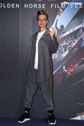 金馬影展「男兒王」男主角李國煌(來台隔離出關)。(記者邱榮吉/攝影)