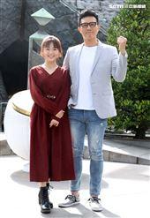 「國際橋牌社2」開鏡演員楊小黎、蔣偉文。(記者邱榮吉/攝影)