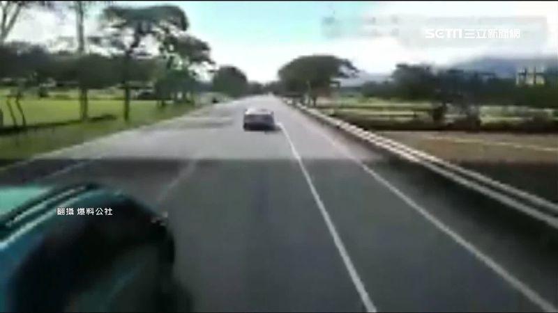對向有車硬超車 貨車駕駛怒:要害誰