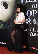 戴愛玲觀賞「歌劇魅影」。(記者邱榮吉/攝影)