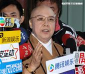 恆述法師按鈴申告遭江姓女子詐騙500萬元。(記者邱榮吉/攝影)