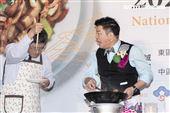 客委會主委楊長鎮、曾國城、邱寶郎、陳明珠出席「2020客家小炒全國爭霸賽」示範賽花博開炒。(圖/記者楊澍攝影)