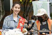 曾莞婷擔任「第31屆寒士吃飽30」愛心大使。(圖/記者楊澍攝影)