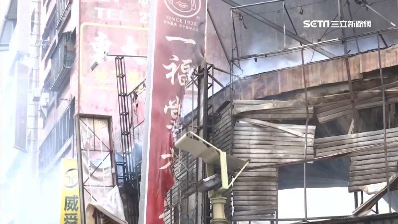 知名餅舖遭燒毀 消防員:未見防火巷