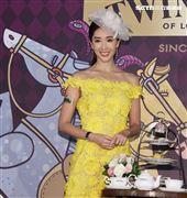 隋棠出席「馬會風尚躍動英倫-唐寧皇室榮耀午茶盛宴」。(記者邱榮吉/攝影)