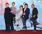 「腿」監製鍾孟宏、導演張耀升、桂綸鎂、楊祐寧、張少懷出席「腿」電影首映會。(記者邱榮吉/攝影)