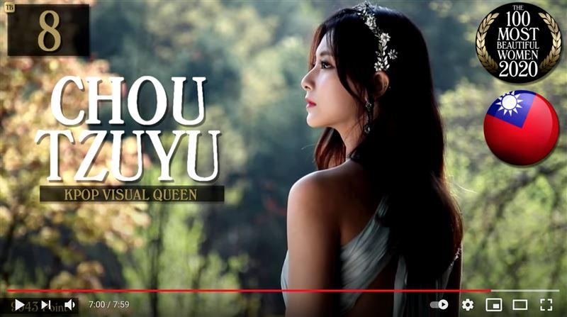 子瑜才第8名 全球百大最美女星是她