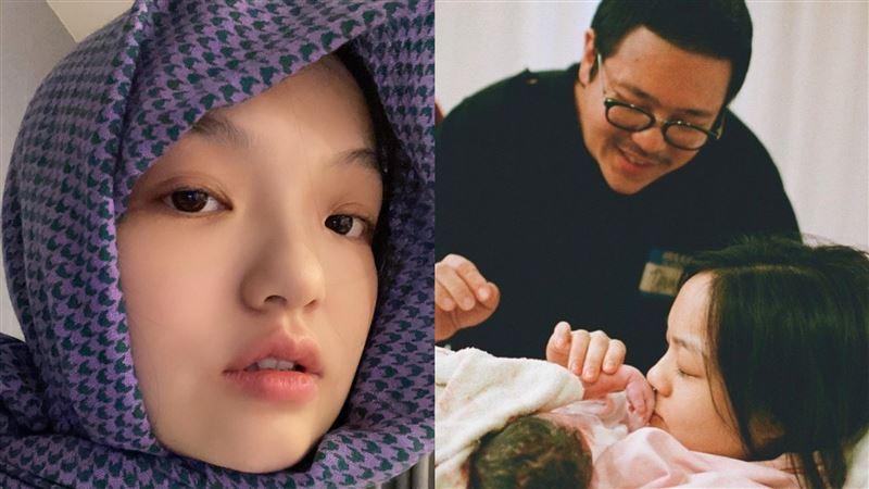 徐佳瑩兒子滿月了 甜PO一家3口照