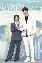 《永遠的第一名》首映記者會辛樂兒、范姜彥豐出席。(圖/記者楊澍攝影)