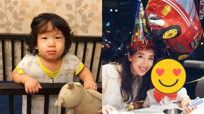 隋棠小兒子2歲了 剪短髮神複製哥哥