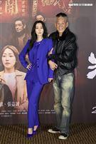 「角頭-浪流連」演員曾莞婷、龍劭華。(記者邱榮吉/攝影)