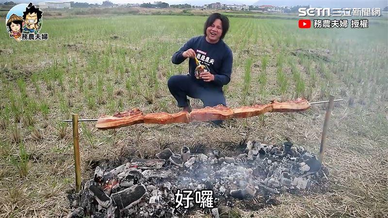 農村「一串」烤肉串 巨大到吃不完