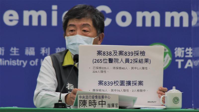 新增染疫醫「慢性鼻炎」難判 陳時中坦言:不排除院內感染