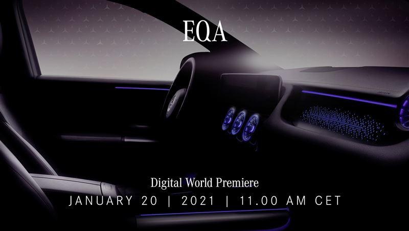 內裝搶先曝光!賓士1月20日發表純電跨界休旅EQA