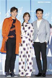 宥勝、陳意涵、邱澤出席她們創業的那些鳥事首映記者會。(圖/記者楊澍攝影)