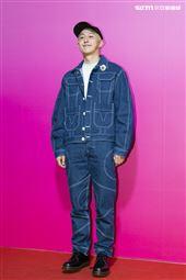 台灣時裝設計師江奕勳出席ANGUS CHIANG AW21巴黎時裝週最新系列大秀暨ME電影首映會。(圖/記者楊澍攝影)