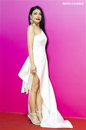 阿洛・卡力亭・巴奇辣出席ANGUS CHIANG AW21巴黎時裝週最新系列大秀暨ME電影首映會。(圖/記者楊澍攝影)