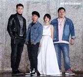 徐愷、黃遠、黃沐妍(小豬)、吳震亞出席電影「山中森林」卡司發布會。(記者邱榮吉/攝影)
