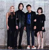 許采晴(拐拐)、夏騰宏、謝承均、黃沐妍(小豬)出席電影「山中森林」卡司發布會。(記者邱榮吉/攝影)