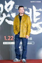 邱彥翔出席電影《哭悲》首映會。(圖/記者楊澍攝影)