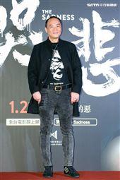 王自強出席電影《哭悲》首映會。(圖/記者楊澍攝影)