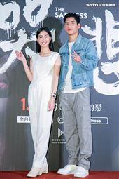 朱軒洋、雷嘉納出席電影《哭悲》首映會。(圖/記者楊澍攝影)