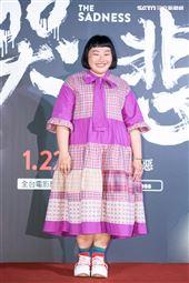 陳映如出席電影《哭悲》首映會。(圖/記者楊澍攝影)