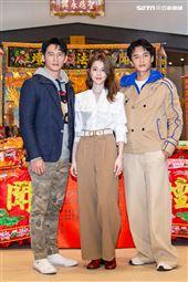 溫昇豪、邵雨薇、陳澤耀出席《衝吧!周大隆》開鏡記者會。(圖/記者楊澍攝影)