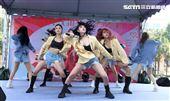 女子團體G.O.F簽唱會。(記者邱榮吉/攝影)