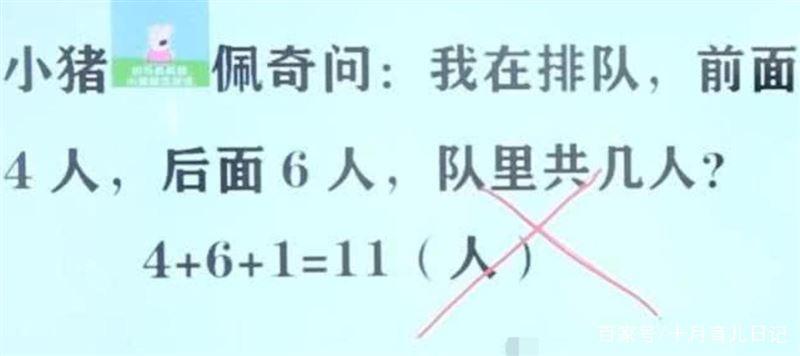 「我前面4人後面6人」答共11人竟錯 老師解釋家長驚呆