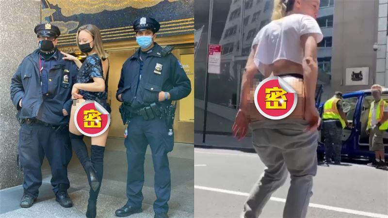 警察也不放過!火辣網紅「野外掀裙」炸翹臀 狂吸百萬粉