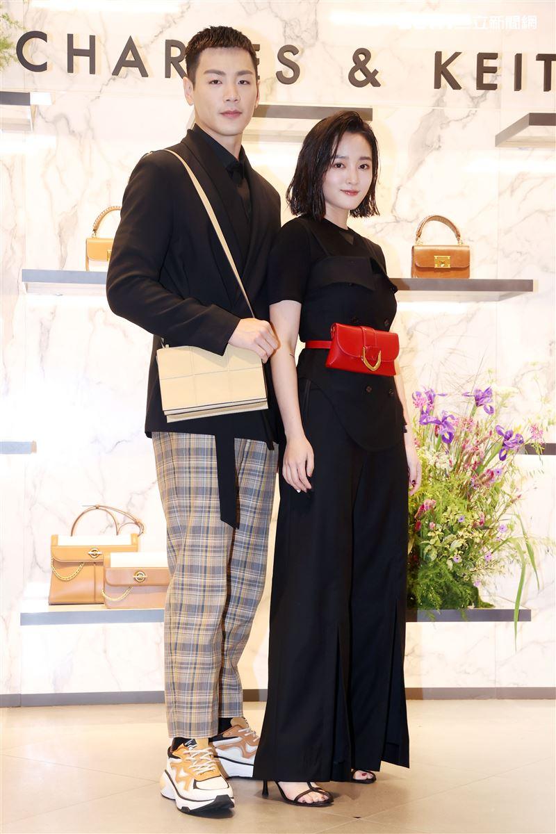 禾浩辰、王淨出席CHARLES & KEITH 2021春季記者會。(記者邱榮吉/攝影)