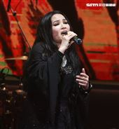 潘越雲參加「歌之饗宴Ⅲ-愛之韻演唱會」在TICC國際會議中心開唱。(記者邱榮吉/攝影)