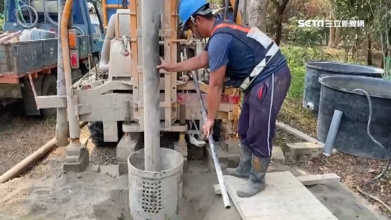 旱災農民急缺水 台南鑿井業者單爆增