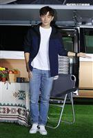 宥勝出席露營車上市,喜歡戶外露營的宥勝一生絕對要有夢幻露營車。(記者邱榮吉/攝影)