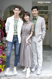 Apple黃暐婷和牙醫師男友趙國翔,以及夏和熙共圖投資咖啡廳「幸奮劑」,舉辦開幕記者會。(圖/記者楊澍攝影)