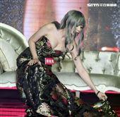 第二屆JKF百大女郎頒獎典禮最佳美胸郭鬼鬼。(記者邱榮吉/攝影)
