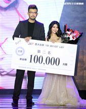 第二屆JKF百大女郎頒獎典禮第二名安希。(記者邱榮吉/攝影)