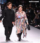金馬影后陳淑芳出席台北時裝週INF時裝秀。(記者邱榮吉/攝影)