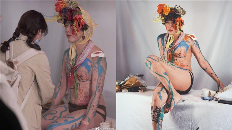 男星開裸身見面會 肉體開放粉絲畫畫