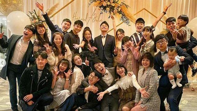 貝童彤婚禮 momo哥哥姐姐全來了
