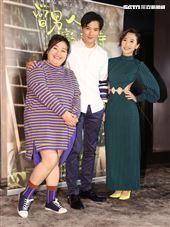 「當男人戀愛時」演員邱澤、鍾欣凌、Lulu黃路梓茵。(記者邱榮吉/攝影)