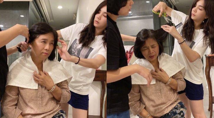 女星幫媽剪頭髮 亮出這1把秒求放過