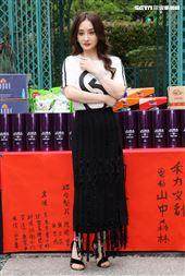 演員陳德容出席「山中森林」開鏡儀式。(記者邱榮吉/攝影)