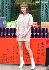 演員黃沐妍出席「山中森林」開鏡儀式。(記者邱榮吉/攝影)