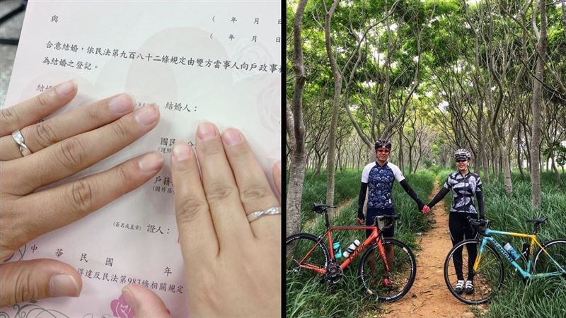 日本歐吉桑成台灣女婿 甜秀結婚證書