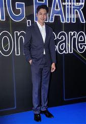 胡宇威法國頂級髮肌保養品牌一日店長。(記者邱榮吉/攝影)